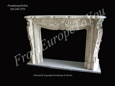Carved Marble French Style Fireplace Mantel Mbf042