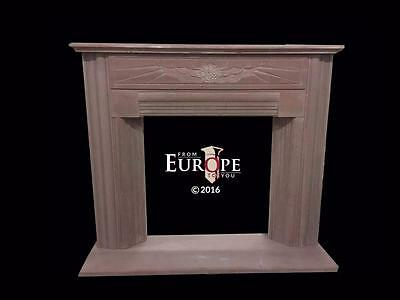 Beautiful Hand Carved Art Deco Marble Fireplace Mantel - Jd203