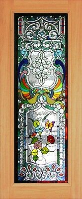 Hand Made Leaded Stained Glass Mahogany Entry Door - Jhl2167 - 29