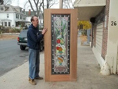 Beautiful Hand Made Mahogany Stained Glass Door - Jhl41