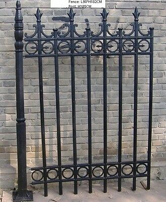 Solid Hand Made Cast Iron Fence Systems