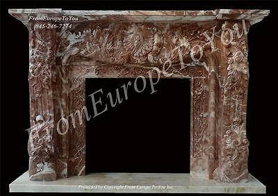 Beautiful Hand Carved Marble French Style Fireplace Mantel Fpm6000