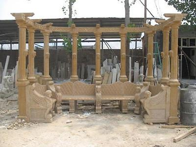 Great Hand Carved Marble Outdoor Garden Bench- Bench#65