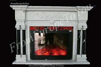 Hand Carved Solid Marble Classical Fireplace Mantel - Mbz165