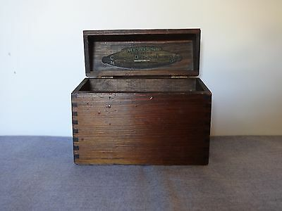 Vintage Mead's File Index of Corrective Diets for Infants 1921 Wood Box Dovetail