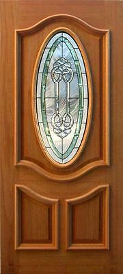 Hand Made Leaded Stained Glass Mahogany Entry Door -Jhl3196-73