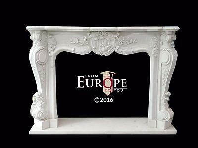 Beautiful Hand Carved French Style Marble Fireplace Mantel Mbf85
