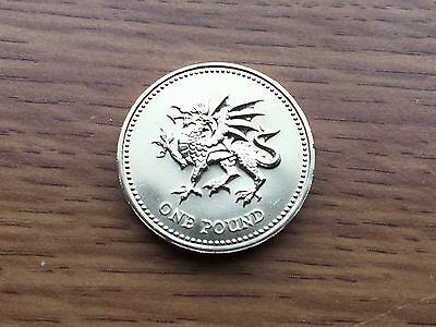 2000 £1 BU Coin - Welsh Dragon - Royal Mint One Pound UNC Uncirculated