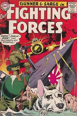 Our Fighting Forces 87 strict 1964 VF High-Grade Japanese, Gunner and Sarge Boca