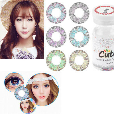 1pc Fresh Coloured Contact Lenses Kontaktlinsen color contact Eyes Cosplay