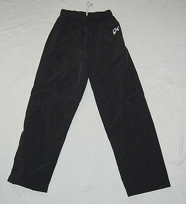 GK girls solid black warmup athletic practice casual gymnastics/dance pants sz M