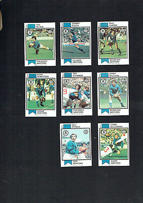 1974   Newtown Jets   Rugby League  Cards - All 8 Cards