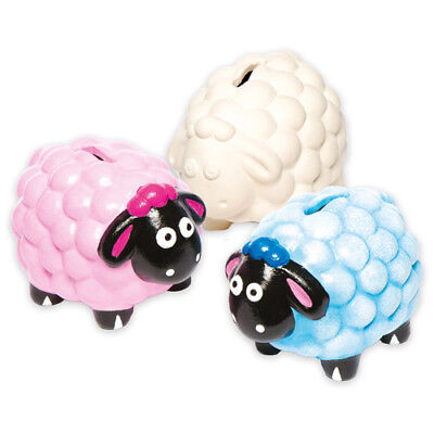 2 Sheep Ceramic Coin Banks for Children to Paint - Creative Kids/Adult Craft Set