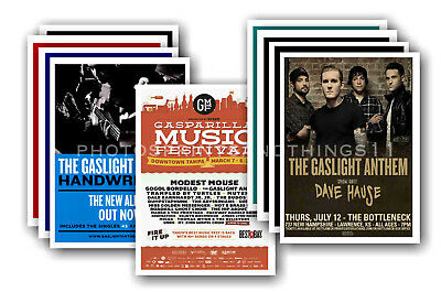 THE GASLIGHT ANTHEM - 10 promotional posters - collectable postcard set # 1