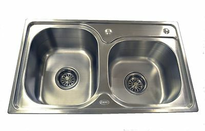 SUPER SALE  Double Stainless Sink 4 Catering Trailer Van or Veg Wash  ADD-6840