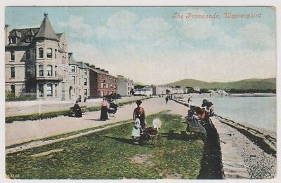 Northern Ireland postcard - The Promenade, Warrenpoint, Co. Down - P/U 1906