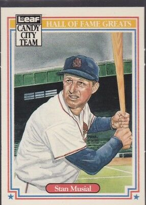 1987 Leaf Hall Of Fame Greats Baseball Stan Musial #H4 Cardinals Nmmt/Mint*56496