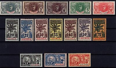 P36266/ Guinee Francaise / French Guinea – Maury # 33 / 47 Neufs * Mint Mh 270 €