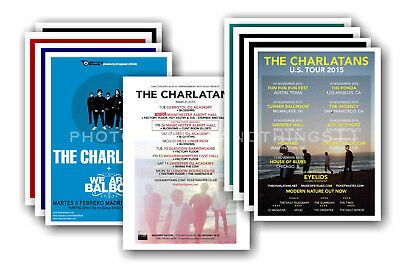 THE CHARLATANS - 10 promotional posters  collectable postcard set # 2