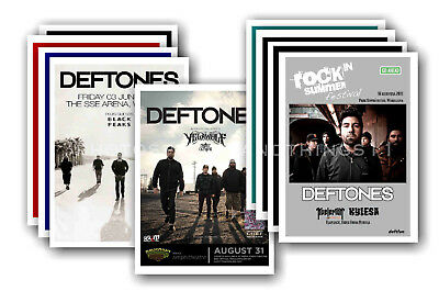 DEFTONES - 10 promotional posters  collectable postcard set # 2
