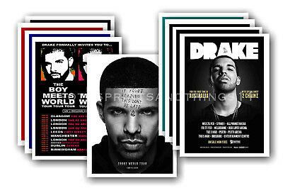 DRAKE - 10 promotional posters  collectable postcard set # 1