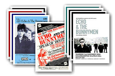 ECHO AND THE BUNNYMEN - 10 promotional posters  collectable postcard set # 2