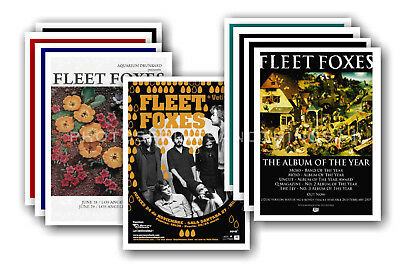 FLEET FOXES - 10 promotional posters  collectable postcard set # 1