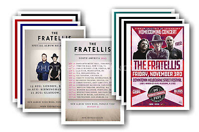 THE FRATELLIS - 10 promotional posters  collectable postcard set # 1
