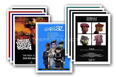 GORILLAZ - 10 promotional posters  collectable postcard set # 1
