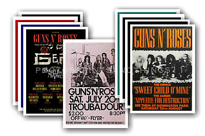 GUNS N ROSES - 10 promotional posters  collectable postcard set # 2