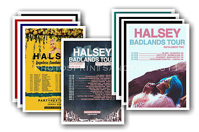 HALSEY - 10 promotional posters  collectable postcard set # 1