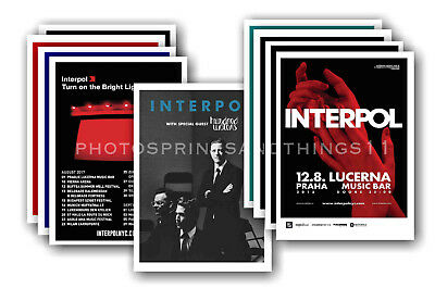 INTERPOL - 10 promotional posters  collectable postcard set # 1
