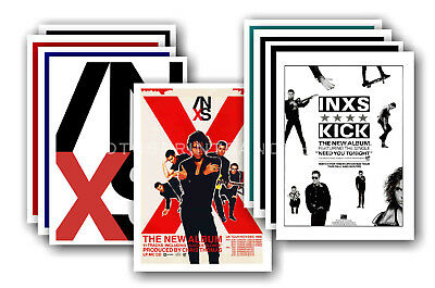 INXS - 10 promotional posters  collectable postcard set # 1