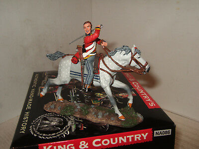 King & Country NA086 Napoleonic Wars, Scots Greys Trooper Slashing with Sword