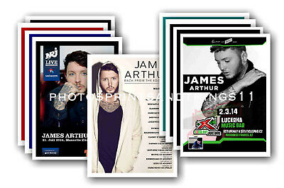 JAMES ARTHUR  - 10 promotional posters - collectable postcard set # 1