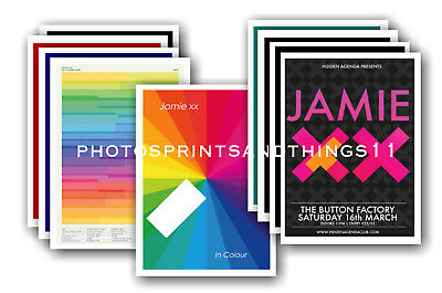 JAMIE XX  - 10 promotional posters - collectable postcard set # 1
