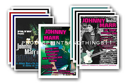 JOHNNY MARR - 10 promotional posters - collectable postcard set # 1