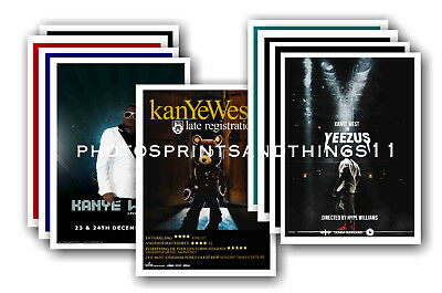 KANYE WEST - 10 promotional posters - collectable postcard set # 1