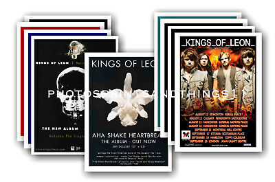 KINGS OF LEON  - 10 promotional posters - collectable postcard set # 2