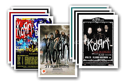 KORN - 10 promotional posters  collectable postcard set # 1