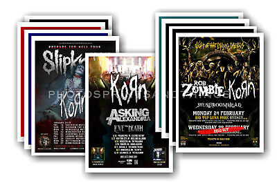 KORN - 10 promotional posters  collectable postcard set # 2