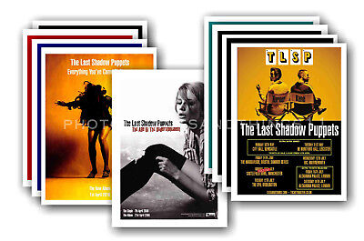 THE LAST SHADOW PUPPETS - 10 promotional posters  collectable postcard set # 1