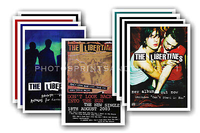 THE LIBERTINES - 10 promotional posters  collectable postcard set # 1