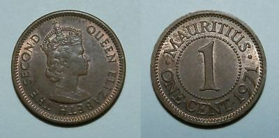 Mauritius : One Cent 1971 - High Grade Lustrous - Nice