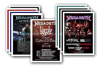 MEGADETH - 10 promotional posters  collectable postcard set # 1