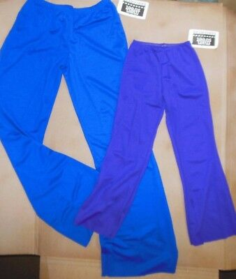NWT WOlff Fording & Co  DANCE COSTUME PANTS CHILD SIZES Royal Blue & Plum