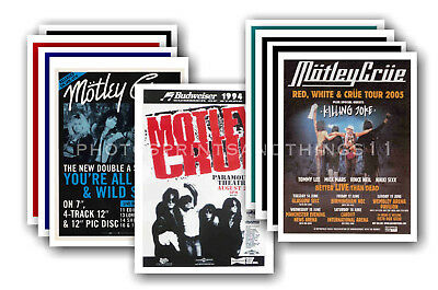 MOTLEY CRUE - 10 promotional posters  collectable postcard set # 1