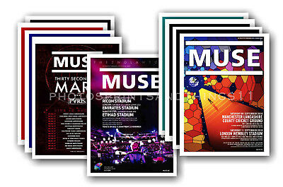 MUSE - 10 promotional posters  collectable postcard set # 1