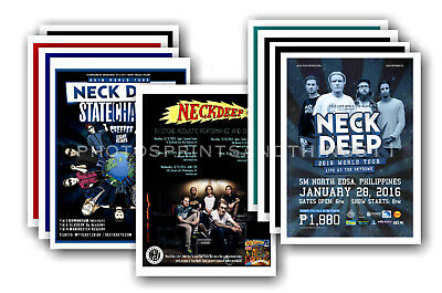 NECK DEEP  - 10 promotional posters - collectable postcard set # 1