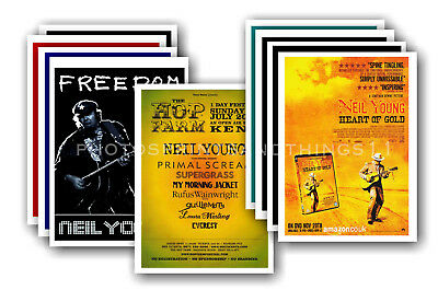 NEIL YOUNG - 10 promotional posters  collectable postcard set # 1